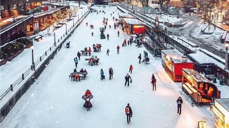 [ON] Ice Skating on Ottawa's Rideau Canal