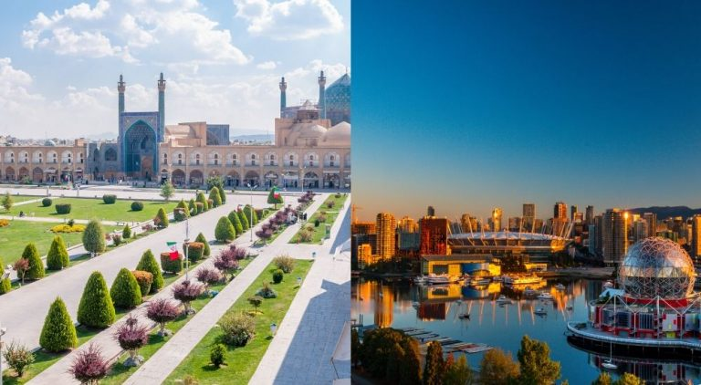 How does living in Canada compare to Iran?