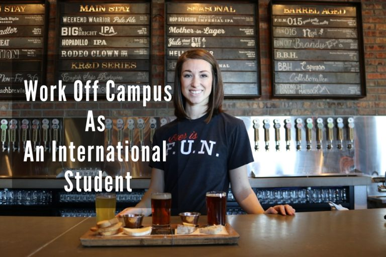 Work off campus as an international student