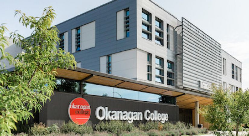 Okanagan College Building and Logo