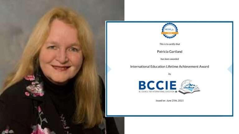 Patricia Gartland – International Education Lifetime Achievement Award 2021