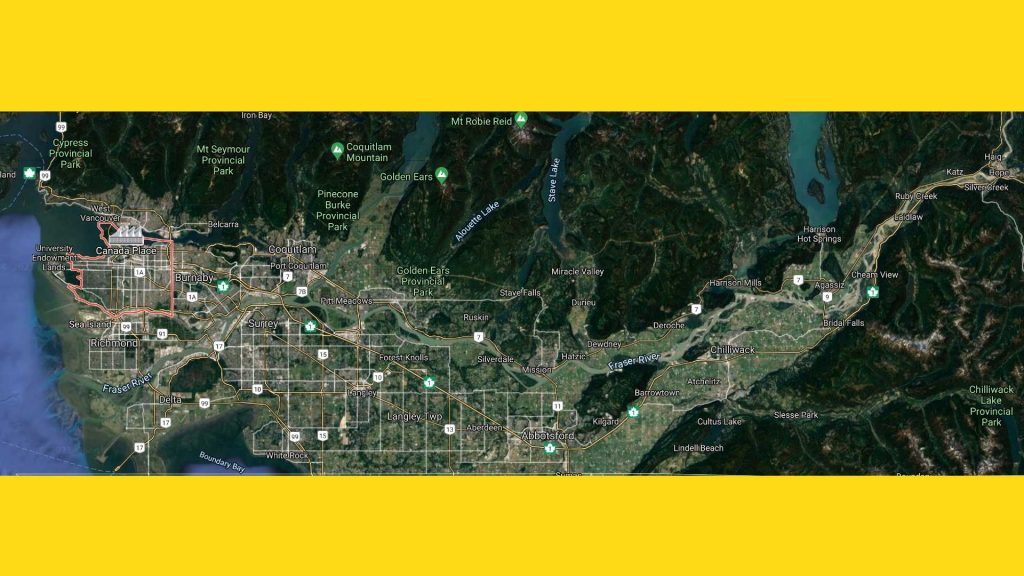 City of Vancouver Map