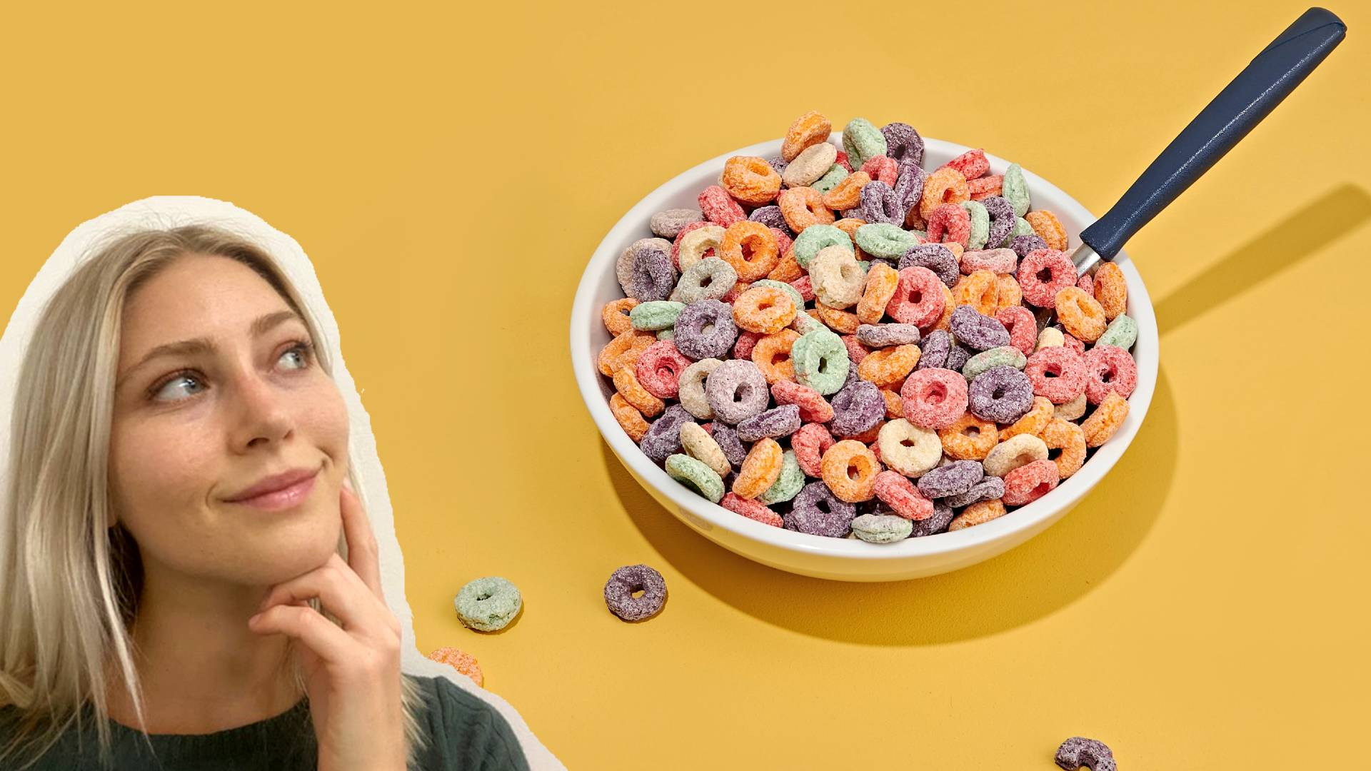 Canadian Woman with colourful cereal