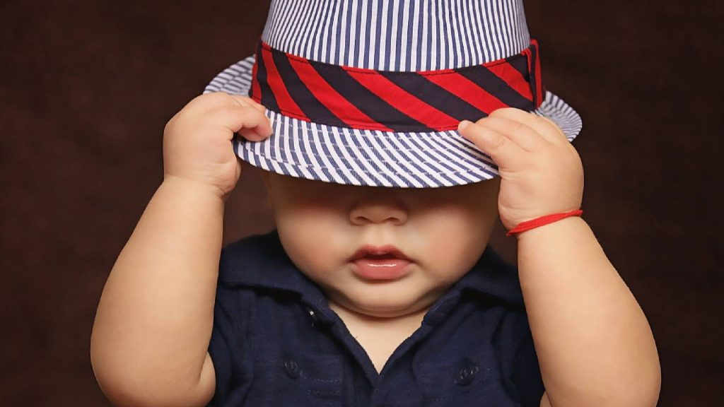 Baby Boy with Fashionable Hat